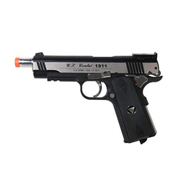 WinGun Airsoft Pistol 3 WinGun WG Special Combat Pistol 1911 CO2 Blowback Airsoft Gun Silver and Black