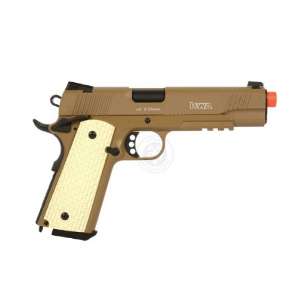 KWA Airsoft Pistol 4 KWA 1911 MK II PTP 6mm 21rd Dark Earth Airsoft Gun (101-00322)