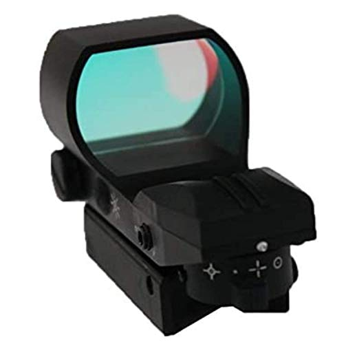 """Ultimate Arms Gear Rifle Scope 5 Ultimate Arms Gear Tactical Pro Panoramic Multi 4 Reticle Red Dot Open Tubeless Reflex Scope Sight Adjustable Brightness with Weaver-Picatinny 7/8"""" Rail Mount"""