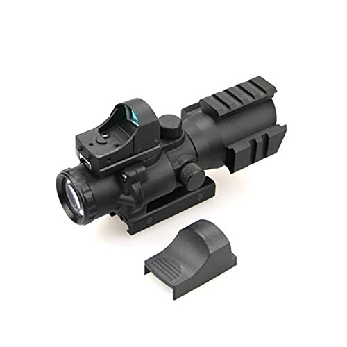 ZHRLQ Rifle Scope 1 ZHRLQ Optical Sight, High-Strength Anti-Shock Waterproof and Anti-Fog, 4X Lens with Green Coating, Adjustable Field of View