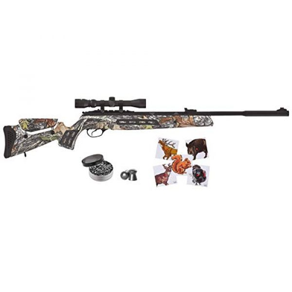 Wearable4U Air Rifle 1 Wearable4U Hatsan MOD 125 Sniper Vortex QE Quiet Energy .177 Cal Air Rifle, Camo with Included 100x Paper Targets and 500x .177cal Lead Pellets Bundle