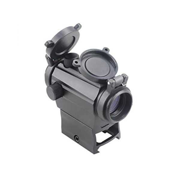 DJym Rifle Scope 4 DJym Red Dot Button Sight, Rifle Scope for Hunting Game Nitrogen-Filled Waterproof and Anti-Fog
