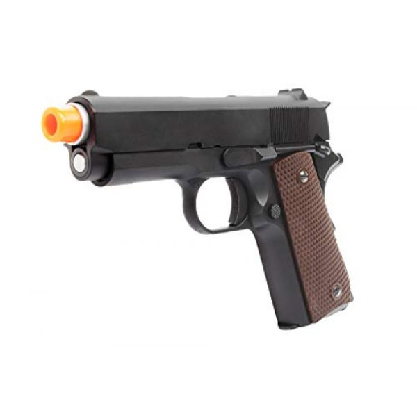 Lancer Tactical Airsoft Pistol 3 Lancer Tactical WE Mini 1911 Version A Full Metal Gas Blowback Pistol Black 290 FPS