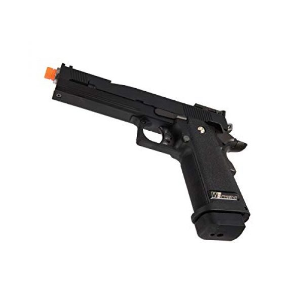Lancer Tactical Airsoft Pistol 5 Lancer Tactical WE-Tech Black Dragon 5.1 Competition Series Hi-Capa Full Auto Gas Blowback Airsoft Pistol Black