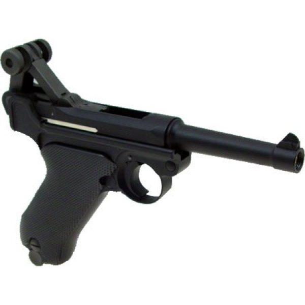 WE Airsoft Pistol 6 WE p-08 short version gas blowback full metal - black(Airsoft Gun)