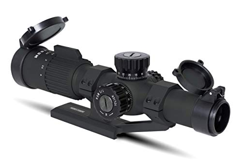 Monstrum Rifle Scope 3 Monstrum G3 1-4x24 First Focal Plane FFP Rifle Scope | ZR305 H-Series Offset Scope Mount | Bundle