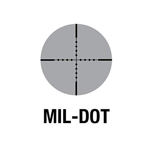 Aim Sports Rifle Scope 3 AIM Sports Inc 4X32 Compact Mil-Dot Scope w/Rings & Sunshade, Black, JTM432B-S