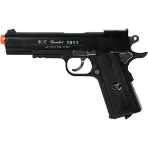 WinGun Airsoft Pistol 1 WinGun Special Combat Pistol 1911 CO2 Blowback Airsoft Gun Black with Black Grip
