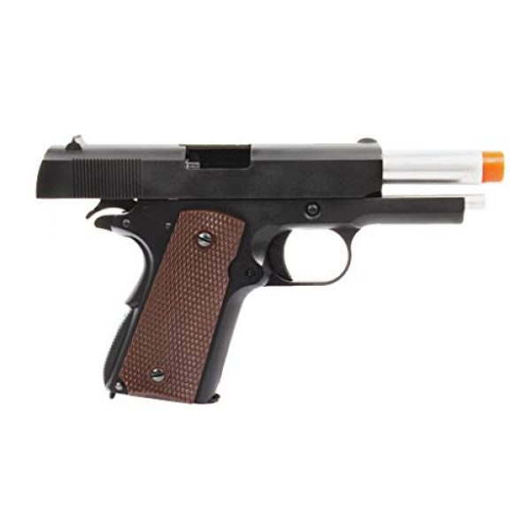 Lancer Tactical Airsoft Pistol 4 Lancer Tactical WE Mini 1911 Version A Full Metal Gas Blowback Pistol Black 290 FPS
