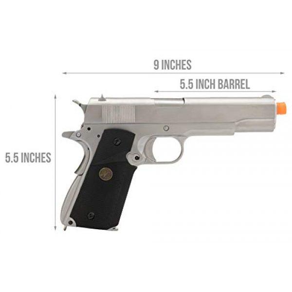 Lancer Tactical Airsoft Pistol 2 Lancer Tactical WE M1911 Full Metal MEU Gas Blowback Airsoft Pistol Silver Black