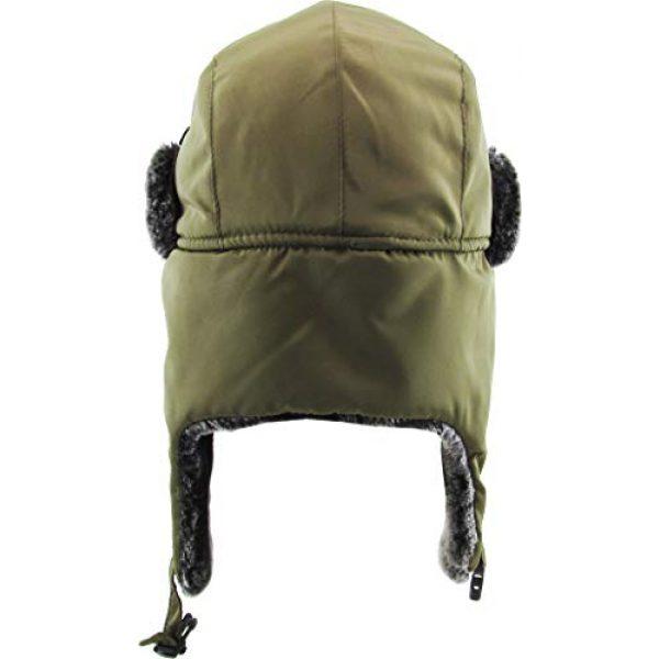 KBETHOS Tactical Hat 5 Basic Solid Blank Aviator Trapper hat Trooper Ear Flaps Ushanka Eskimo Bomber Russian Warm Winter Cold