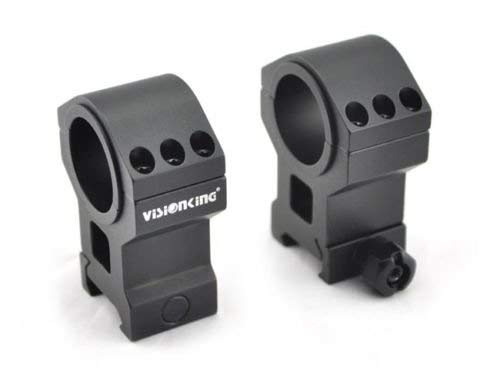 Visionking Rifle Scope 3 Visionking Rifle Scope 3-30x56 Riflescope Side Focus 10 Times Zoom Mil-dot Long Range Tactical with Mount Ring (Black)