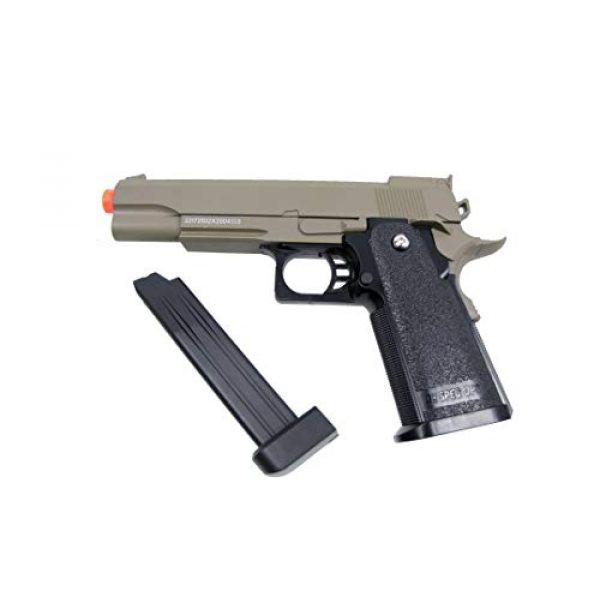 GE / JG Airsoft Pistol 3 GE / JG Hi-Capa Metal Slide Spring Powered Airsoft Pistol with Portable Airsoft BB Trap Target Tent Package (Tan)