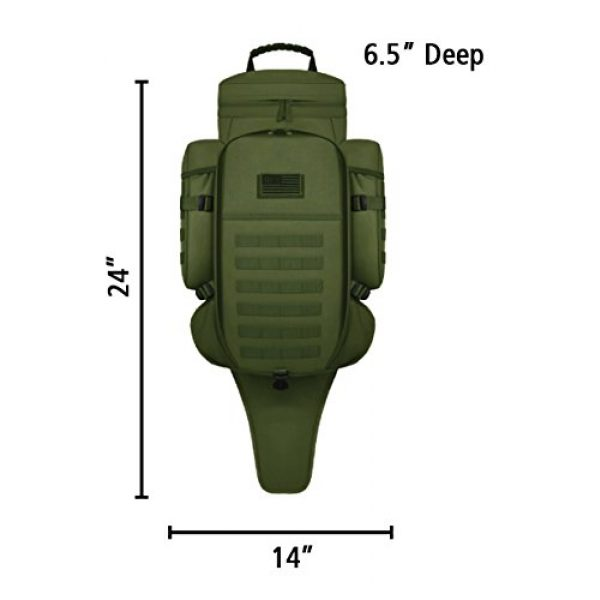 East West U.S.A Tactical Backpack 2 East West U.S.A RT538/RTC538 Tactical Molle Military Assault Rucksacks Backpack, Olive