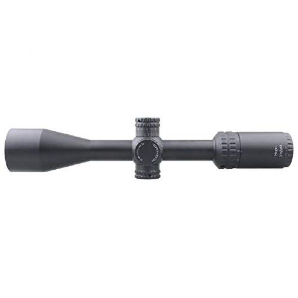 Vector Optics Rifle Scope 6 Vector Optics Hugo 3-12x44 Second Focal Plane (SFP) Riflescope, 25.4mm Tube, 1/4 MOA Per Click Adjustment, Turret Lock System, Free Mount Rings, Lens Caps, 3 Inches Sunshade