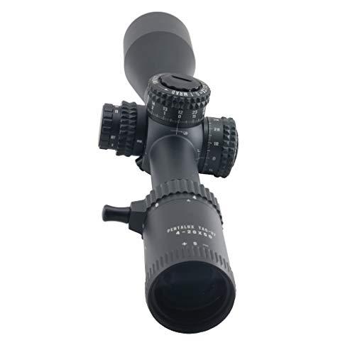 Hi-Lux Optics Rifle Scope 6 Hi-Lux Optics TAC-VF420X50 PentaLux 4-20 x 50 30mm Tube First Focal Plane Rifle Scope with Green Illuminated CW1-FFP Reticle, Black