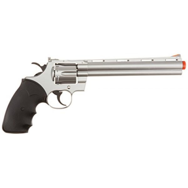 "Team SD Airsoft Pistol 2 TSD/UHC Sports Model 141SR Gas Airsoft Revolver - Silver/Black w/ 8"" Barrel"