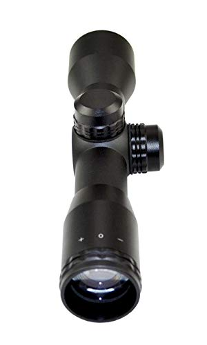 """DB TAC INC Rifle Scope 4 DB TAC INC 4X32 Compact Scope with Rangefinder Reticle and 1"""" Dovetail Scope Rings"""