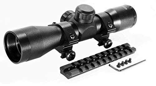 TRINITY Rifle Scope 5 Trinity Black 4x32 Hunter Scope for Ruger 10/22 Hunting Tactical Optics Picatinny Weaver Mount Adapter Aluminum Black Target Range Accessory Single Rail Mount.