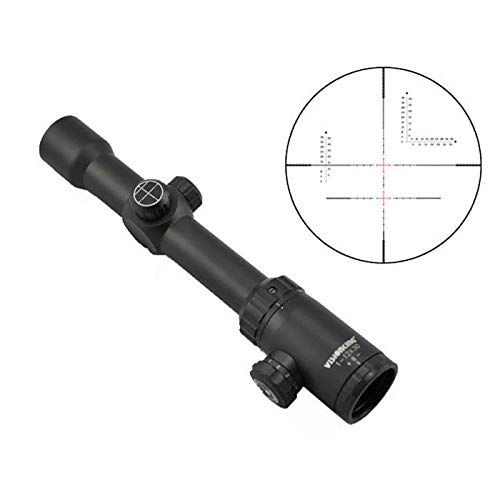Visionking Rifle Scope 2 Visionking Rifle Scope 1-12X30 Wide Field Riflescopes Illuminated for Hunting Tactical with a Scope Mount