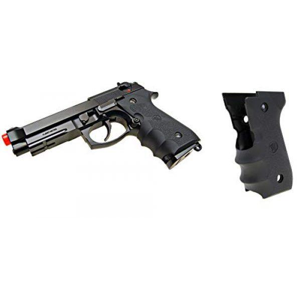 KJW Airsoft Pistol 1 KJW Tactical M9 45 Grips Gas Blowback Airsoft Pistol M9a1 Compatible WE/HFC M9 Series Airsoft Pistol Grip Ergonomic Comfort Tactical Pistol Grip Airsoft Accessory Starter Pack
