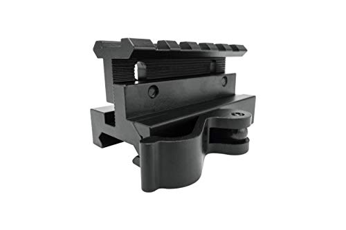 Monstrum Rifle Scope 6 Monstrum S330P 3X Prism Scope | RM5-AH Adjustable Height Riser Mount with Quick Release | Bundle