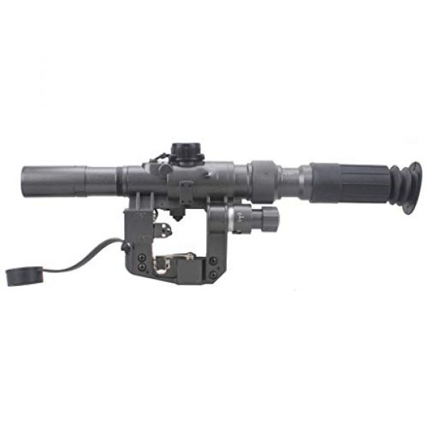 Vector Optics Rifle Scope 4 Vector Optics SVD Dragunov 3-9x24mm First Focal Plane (FFP) Tactical Riflescope with Red Illuminated Rangefinding Reticle