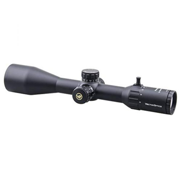 Vector Optics Rifle Scope 5 Vector Optics Paragon 3-15x50mm Second Focal Plane (SFP) Genii 1/10 MIL Tactical Riflescope with Red Illuminated Reticle, 30mm Mount Rings, Lens Cover, 3 Inch Sunshade