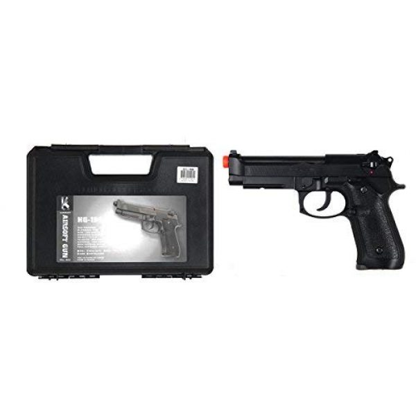HFC Airsoft Pistol 3 HFC HG-190 Airsoft GBB BLOWBACK CO2 Pistol Black M190 with Gun Case