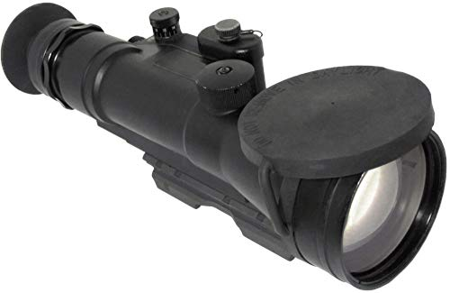 "PRG Defense Rifle Scope 2 PRG Defense 15WOP423353011 Model Wolverine Pro 4 3NL1 Gen 3+""Level 1"" Night Vision Rifle Scope, 4X Magnification, 125mm Objective Lens, 8° FOV, 25m to Infinity Focus Range, 30mm Eye Relief"