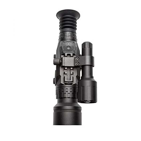 Sightmark Rifle Scope 5 Sightmark Wraith HD 4-32x50 Digital Riflescope Bundle with 4 AA Batteries, Battery Case and Lumintrail Cleaning Cloth