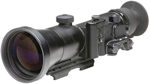 "PRG Defense Rifle Scope 1 PRG Defense 15WOP423353011 Model Wolverine Pro 4 3NL1 Gen 3+""Level 1"" Night Vision Rifle Scope, 4X Magnification, 125mm Objective Lens, 8° FOV, 25m to Infinity Focus Range, 30mm Eye Relief"
