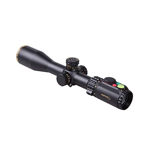 Sniper Rifle Scope 1 WKP1.5-6X44SAL Hunting Scopes Side Parallax Adjustment Glass Etched Reticle RG Illuminated with Bubble Level