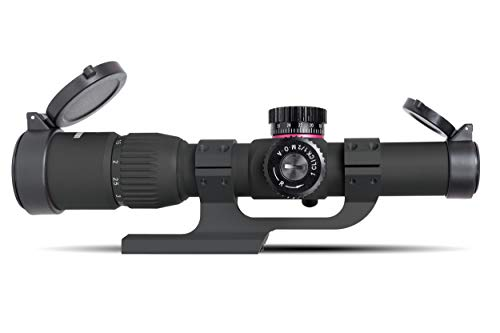 Monstrum Rifle Scope 1 Monstrum G2 1-6x24 First Focal Plane FFP Rifle Scope | ZR300 H-Series Offset Scope Mount | Bundle