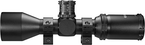 BARSKA Rifle Scope 3 BARSKA AC11874 Contour .223 BDC Rifle Scope 3-9x40 Lockable Turrets, Mil-Dot Reticle with Rings