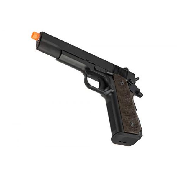 Lancer Tactical Airsoft Pistol 5 Lancer Tactical WE 1911 High Capacity Full Metal Airsoft Gas Blowback Pistol Black 330 FPS