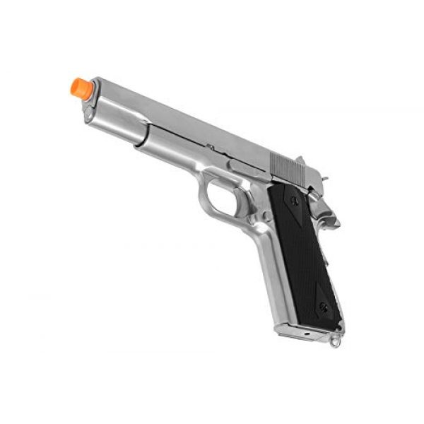 Lancer Tactical Airsoft Pistol 4 Lancer Tactical WE 1911 MEU Airsoft Gas Blowback Pistol with Classic Grips Silver 330 FPS