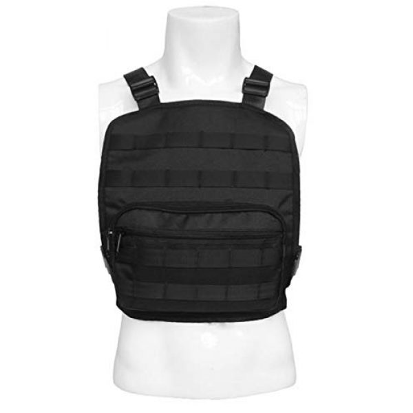 JFFCE Tactical Backpack 6 Tactical Chest Bag Pouch MOLLE Chest Panel Harness Multipurpose EDC Carry Pouch Tactical Chest Rig Black