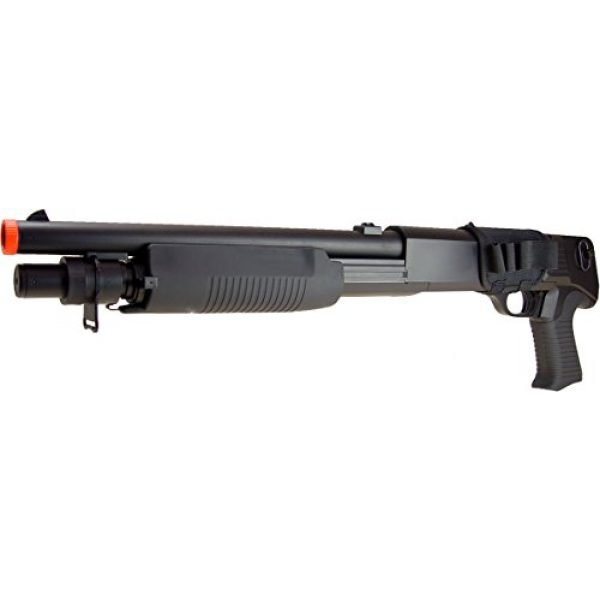 DE/CSI Airsoft Shotgun 4 DE Model-799S Tri-Burst Shot Gun w/Pistol Grip&Shell Holster