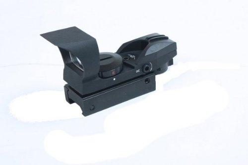 Ultimate Arms Gear Rifle Scope 3 Ultimate Arms Gear Tactical New Generation CQB 4 Reticle Red Dot Open Reflex Sight with Integral Sunshade And Rifle Shotgun Pistol Crossbow Weaver-Picatinny Rail Mount Includes Battery And Lens Cleaning Kit