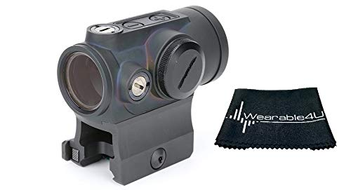 HOLOSUN Rifle Scope 1 Holosun Circle Dot/QD/Titanium HE530G-RD with included Wearable4U Lens Cleaning Towel Bundle