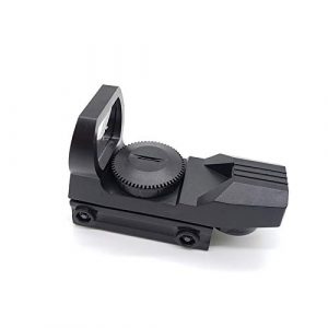 Without Rifle Sight 1 Toy Gun Sight Red dot Sight Magnification New Hunting Green Dot Sight Reflex Sight for Toy Gun Accessories Hunting Game Toy Track Scope Holographic Optical (Color : Black)