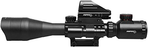TPO Rifle Scope 7 TPO ST 4-16x50 Scope Combo Includes Laser Sight and Holographic Dot Sight
