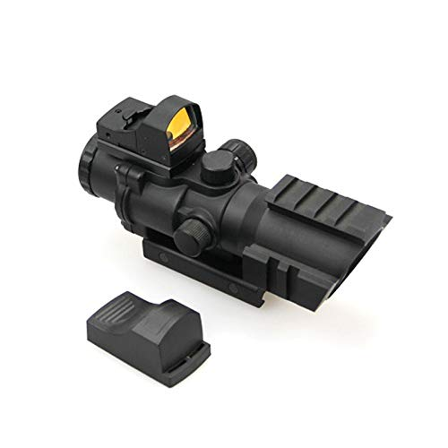 ZHRLQ Rifle Scope 2 ZHRLQ Optical Sight, High-Strength Anti-Shock Waterproof and Anti-Fog, 4X Lens with Green Coating, Adjustable Field of View