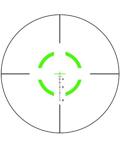 Trijicon Rifle Scope 6 Trijicon VCOG 1-6x24 Rifle Scope with Green Segmented Circle/Crosshair .223/55gr & Thumb Screw Mount