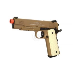 KWA Airsoft Pistol 1 KWA 1911 MK II PTP 6mm 21rd Dark Earth Airsoft Gun (101-00322)