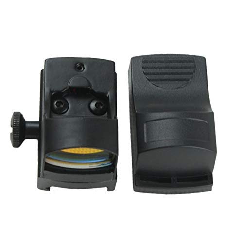 Without Rifle Scope 5 Toy Gun Sight Red dot Sight Magnification Mini Holographic Sight Light Red Green Dot Laser Scope Optics Sight (Color : Black)