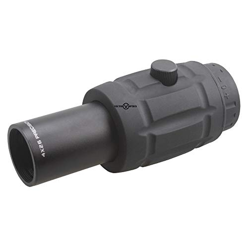 KTAIS Rifle Scope 2 KTAIS Vector Optics Tactical Adjustable 4X Magnifier fit for Red Dot Sight with Flip to Side Mount Shooting Accessories (Color : Black)