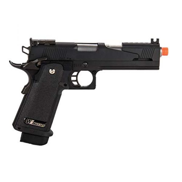 Lancer Tactical Airsoft Pistol 2 Lancer Tactical WE-Tech Black Dragon 5.1 Competition Series Hi-Capa Full Auto Gas Blowback Airsoft Pistol Black
