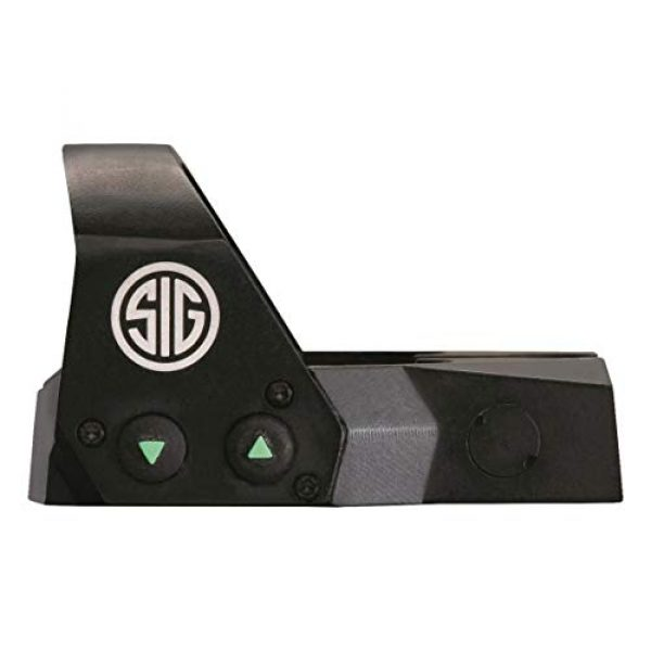 Sig Sauer Rifle Scope 5 Sig Sauer Romeo 1 Mini Reflex 1x22 3 MOA Red Dot 1.0 MOA M1913 Gun Scope, Black, One Size (SOR11001)